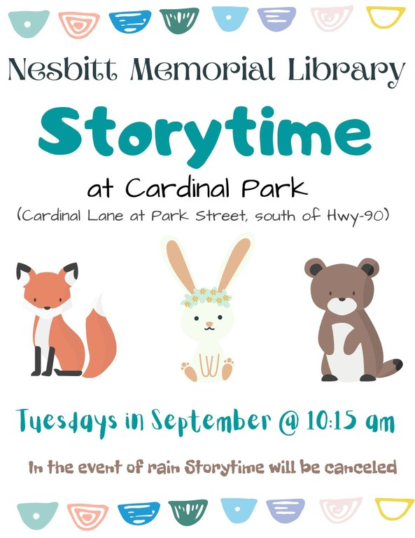 Storytime @ the Park Flyer